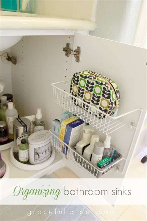 organizing a bathroom 15 ways to organize under the bathroom sink