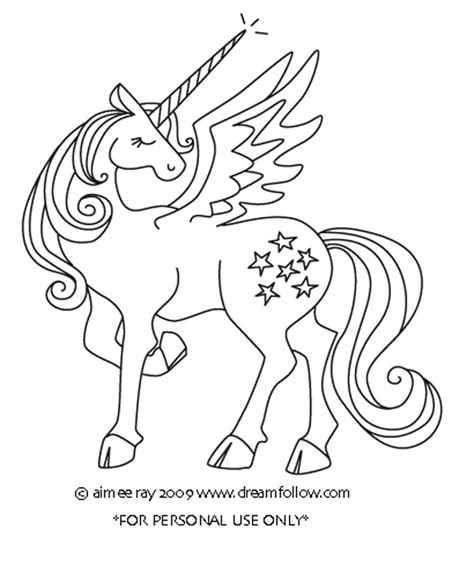 Coloring Page Unicorn With Wings by Winged Unicorn Colouring Pages