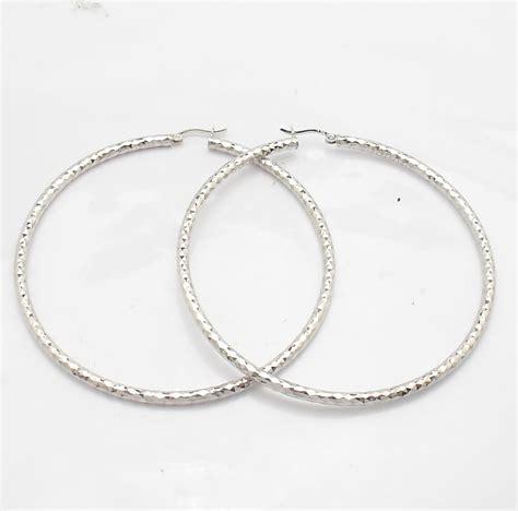 2 3 4 quot large anti tarnish hoop earrings real 925 sterling