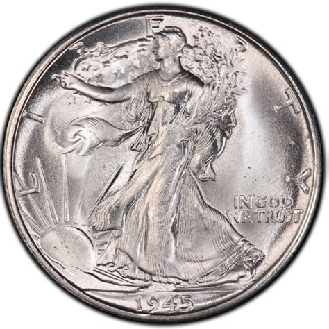 1945 walking liberty half dollar values and prices past sales coinvalues com