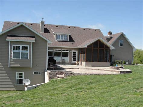 custom ranch house plan w daylight basement and rv garage ranch house plans with walkout basement basement details