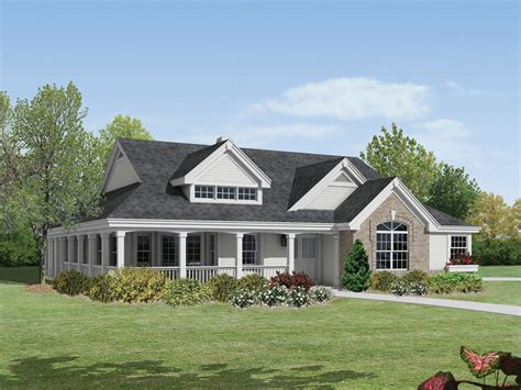 Large Front Porch House Plans Corder Hollow Country Home Plan 007d 0172 House Plans