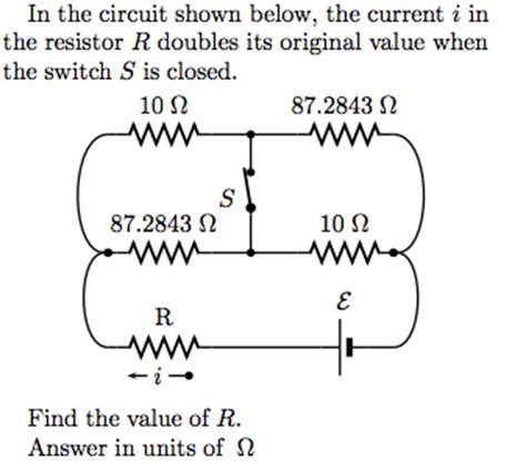 what value of resistor r gives the circuit in the circuit shown below the current i in the r chegg
