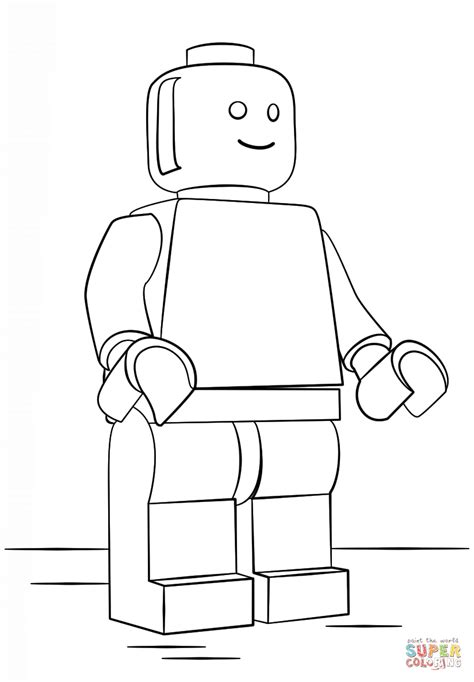 easy lego coloring pages printable coloring page simple male figure lego man