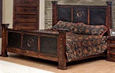 western bedroom sets copper creek king bed rustic western free s h