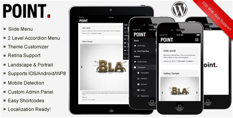 mobile themes themeforest an in depth look at point premium modern mobile theme