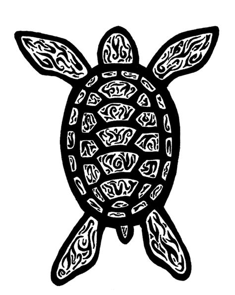 tribal turtle coloring page tribal turtle tattoo by shiev on deviantart