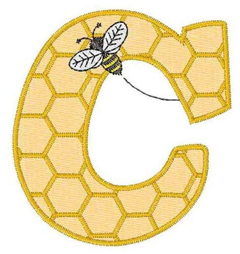 honeycomb pattern font bugs embroidery design honeycomb font c from embroidery
