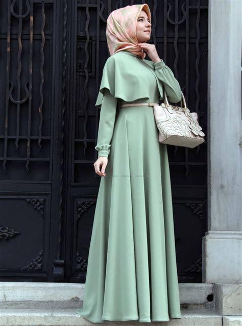 Baju Busana Muslim Untuk Pesta Iska Cape Maxi Dress 30 trend model baju muslim terbaru 2018