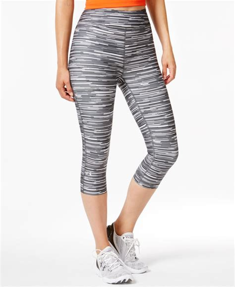 cropped patterned leggings under armour alpha heatgear 174 cropped printed leggings in