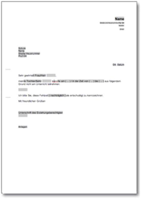 Entschuldigung Brief Beispiel Entschuldigung F 252 R Die Schule At Musterbrief
