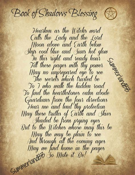 wicca book of spells a book of shadows for wiccans witches and other practitioners of magic books book of shadows blessing spell digital book of