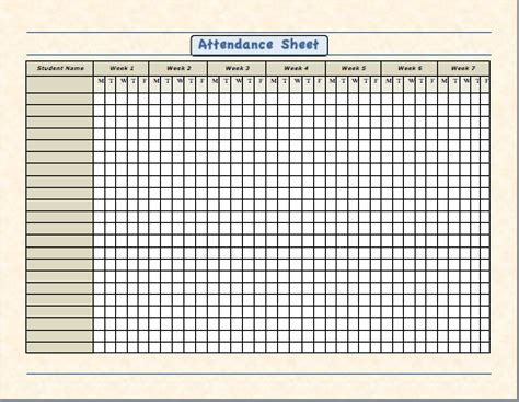 attendance sheet for employees excel 2016 | printable
