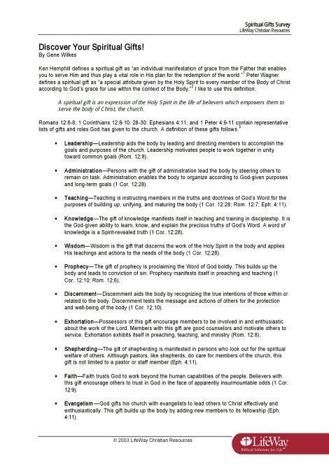 printable spiritual gifts questionnaire printable spiritual gifts test lifeway lamoureph blog