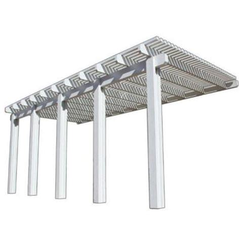Home Depot Patio Covers Aluminum by Four Seasons Building Products 22 Ft X 10 Ft White