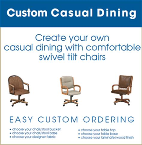 Kitchen Depot Newington Ct Dinette Depot Custom Order Swivel Tilt Furniture