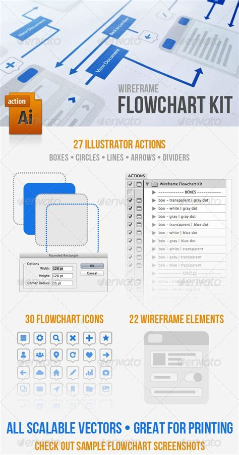 96 Adobe Illustrator Flowchart Template Ux Device Pack Ai Eps Photoshop Ux Flowchart Userflow Adobe Illustrator Flowchart Template