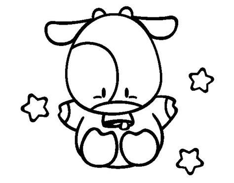 imagenes para dibujar tiernas dibujo de vaca peque 241 a para colorear dibujos net