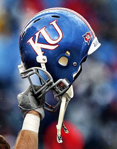 fb ku ku football helmet credit jeff jacobsen ku athletics