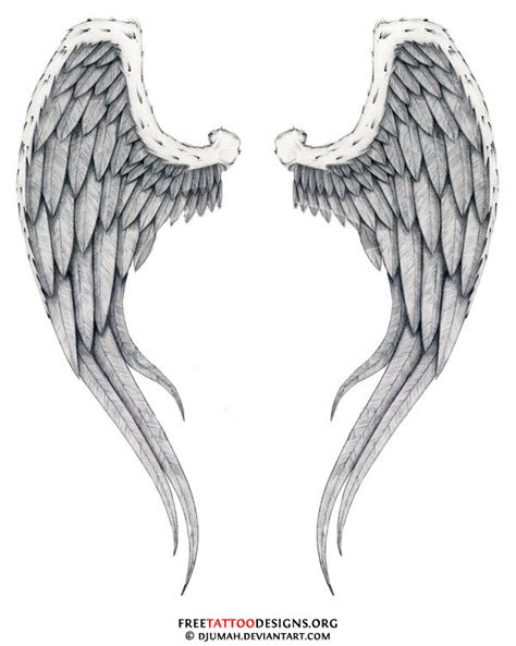 tattoo designs angel wings back wing free pictures