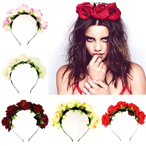 6 Beautiful Floral Headbands For And Summer by Handmade Floral Flower Crown Headband Hair
