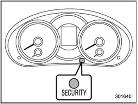 subaru security indicator light subaru forester security indicator light warning and