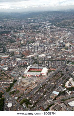 an aerial view of bramall lane in south yorkshire. home of