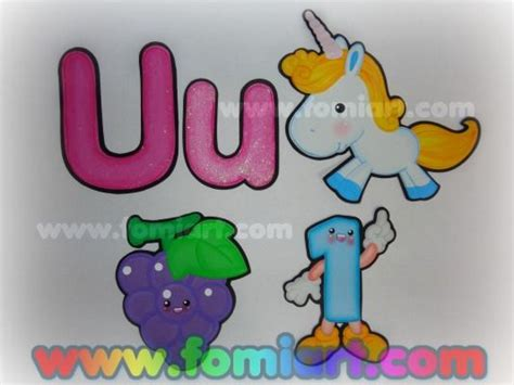 imagenes educativas en foami vocales unicornio uvas uno jpg 533 215 400 lian