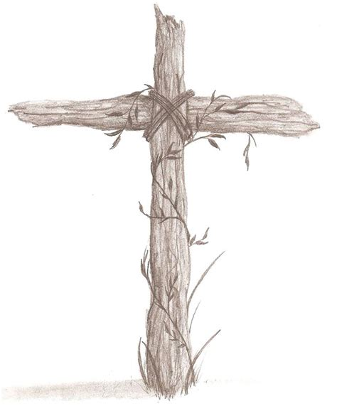 Rugged Cross Drawing rugged cross sketch wooden cross drawing rugged