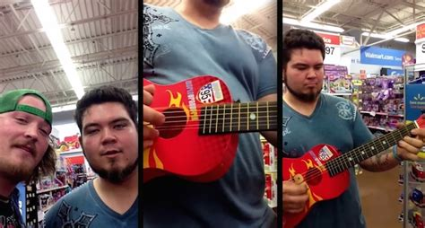 guys pick   toy guitar  walmarts toy aisle   rock stars