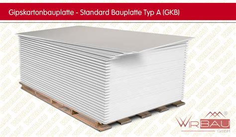 Gkb Decke by Gipskartonplatte Typ A Gkb G 252 Nstige Baustoffe