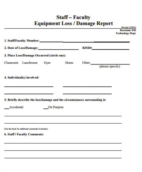 damage report form template damage report form template pictures to pin on