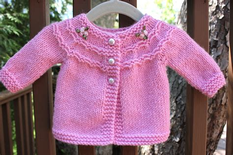 baby sweater knitting design pretty in pink a baby sweater big a a