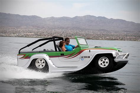 car with boat watercar panther hibious vehicle mikeshouts