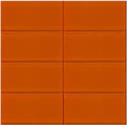 Bright Colored Bathrooms - bright orange glass subway tile in poppy modwalls lush 3x6 tile modwalls tile