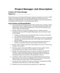 Manager Description by 13 Description Templates Free Sle Exle Format Free Premium Templates