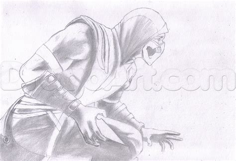 how to draw scorpion from mortal kombat x easy things to how to draw scorpion from mortal kombat x step by step