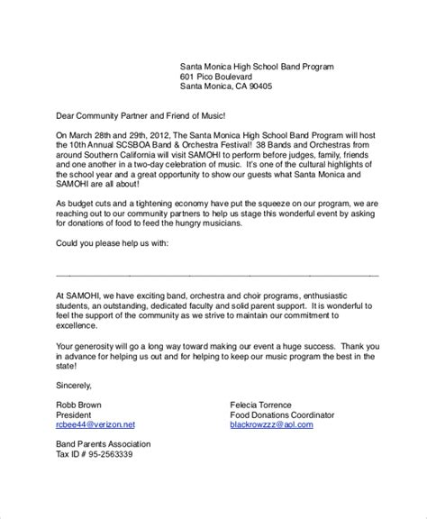 food donation letter donation request letter for school