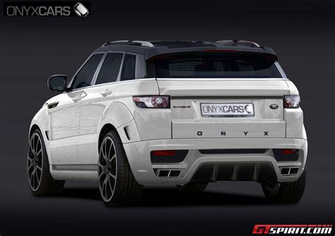 onyx range rover onyx releases evoque body kit