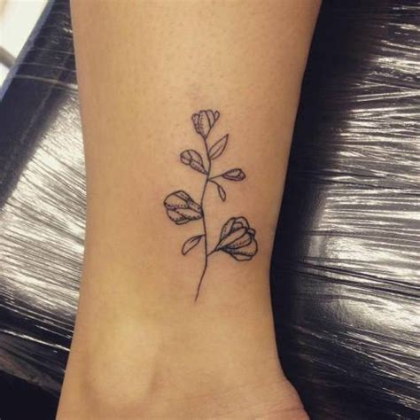 small simple tattoos tumblr sweet pea