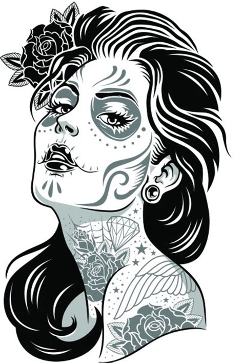imagenes de calaveras femeninas el arte de azul dibujo 1 la se 241 ora de la muerte mexicana