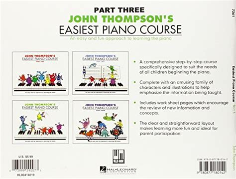 John Thompson S Easiest Piano Course Part 3 Book Only