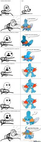 Mudkip Meme - mudkip enters cereal guy s house and talks about mudkips