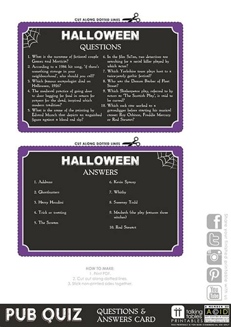 printable quizzes uk pub quiz free printable halloween talking tables
