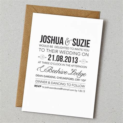 25  best ideas about Casual Wedding Invitations on