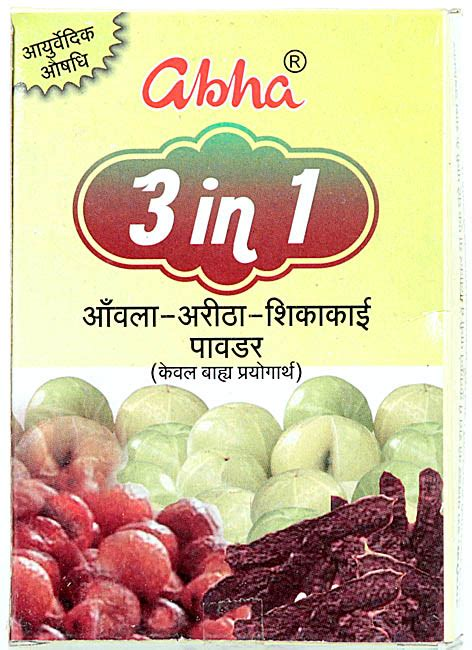 Kaftan 3in1 abha 3 in 1 amla aritha shikakai powder for external