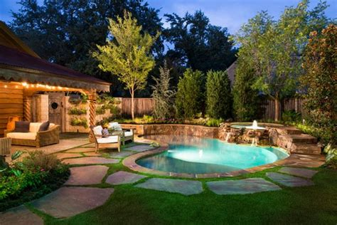 backyard country spruce up your small backyard with a swimming pool 19