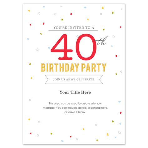 40th birthday invitation templates free 40th birthday invitations templates free wedding