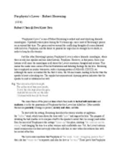 Porphyrias Lover Essay Structure by Porphyria S Lover Essay Dissertationideas X Fc2