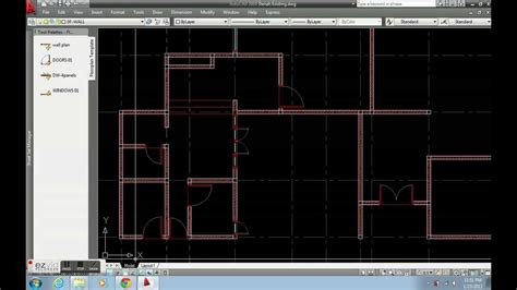 create floor plan  autocad dynamic block youtube